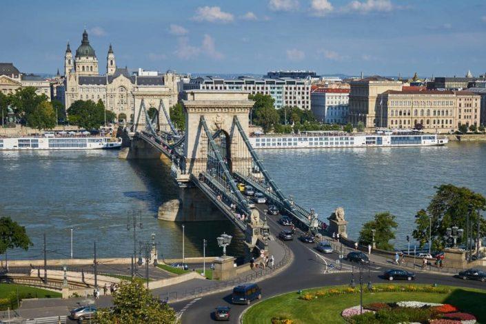 Будапешт Сечени, красивый мост в Венгрии